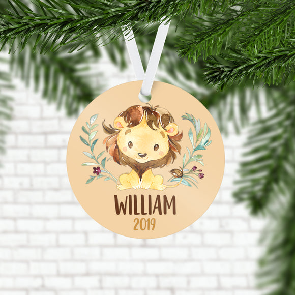 Personalized Lion Christmas Ornament - RO0075