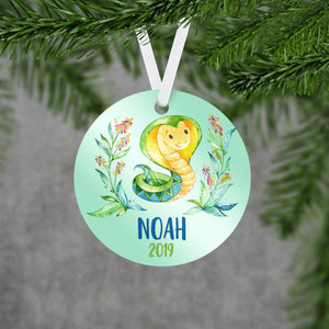 Personalized Snake Christmas Ornament - RO0076