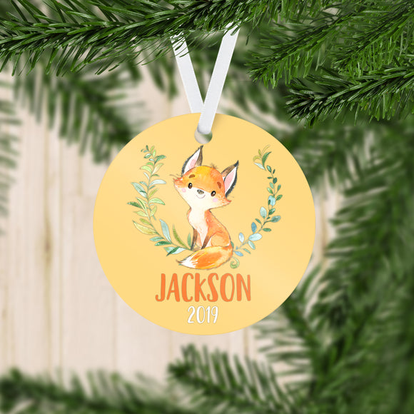 Personalized Fox Christmas Ornament - RO0082