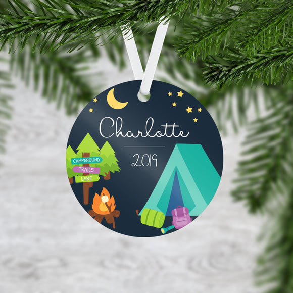 Personalized Camping Christmas Ornament - RO0119