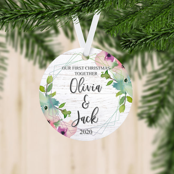 Personalized Our First Christmas Together Established Ornament - RO0122
