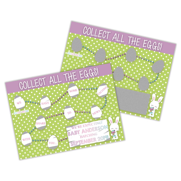 Easter Pregnancy Announcement Scratch Off Card - SCA0024