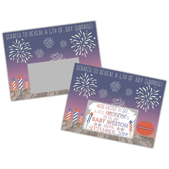 July 4th Pregnancy Announcement Scratch Off Card - SCA0032