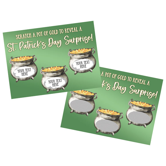 Create Your Own St. Patrick's Day Scratch Off Card - SCA0036
