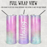 Personalized Cotton Candy Skinny Tumbler With Straw - ST0018