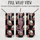 Personalized Floral Skulls Skinny Tumbler With Straw - ST0023