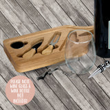 Mother's Day Wine and Cheese Cutting Board Gift Set - Glass Cutting board - Cheese Board - Chopping Board - For Her - WCGS0006