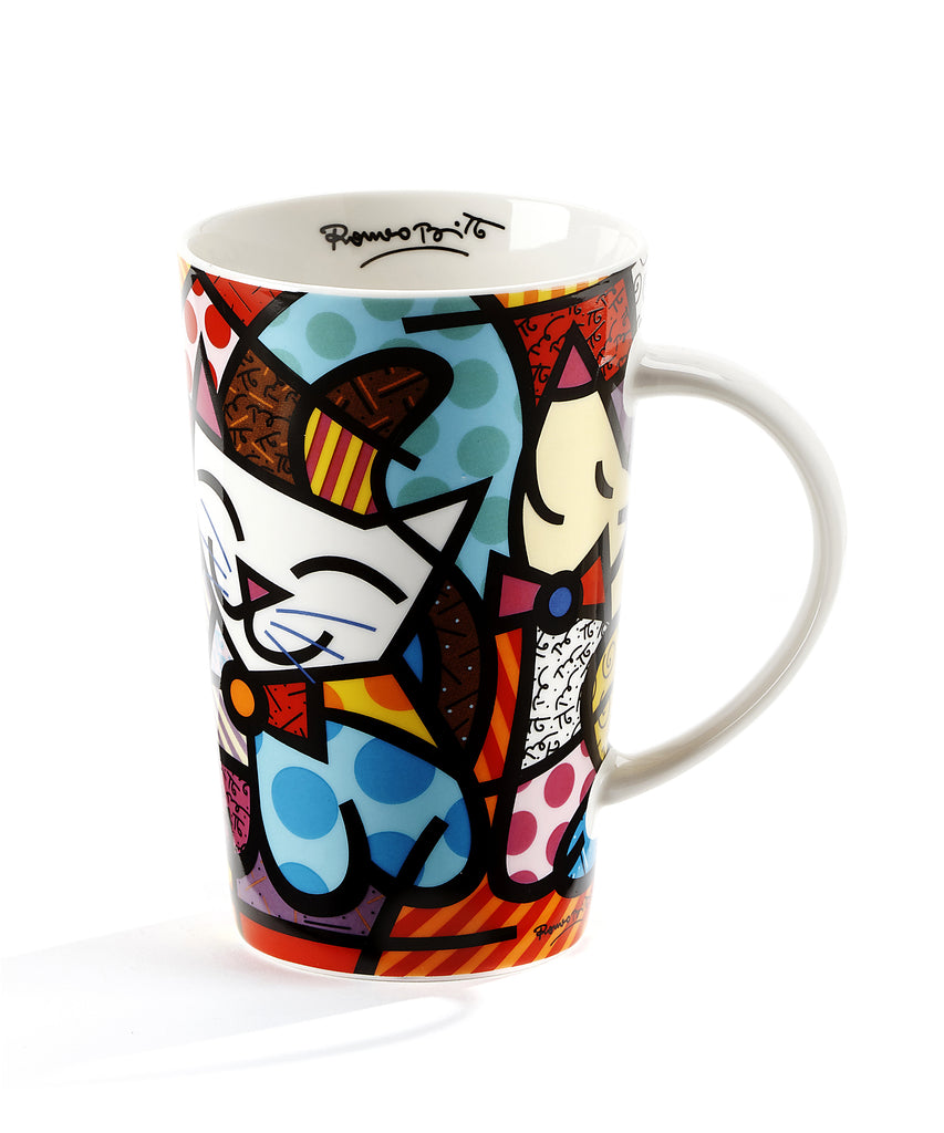Romero Britto Bone China Mug - Cat Design