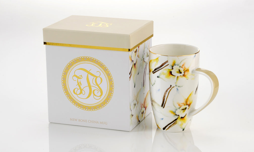 For the Soul New Bone China Mug, Vanilla Orchid (Gift Boxed)