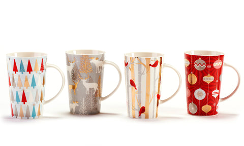 Holiday Design Porcelain Mug