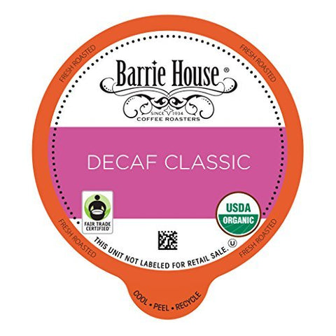 Barrie House Organic Decaf Classic K Cup Capsules