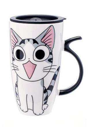 20 oz Cute Cat Mug with Lid