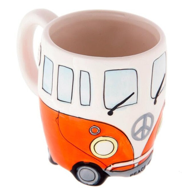 14 oz Creative Retro Peace VW Bus Coffee Cup - Last One!
