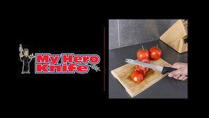 "MY HERO KNIFE: CHEF VINNI'S ALL PURPOSE 10"" PROFESSIONAL CARVE & SERVE KNIFE"
