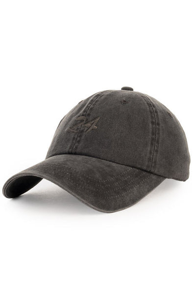 """24"" Vintage Dad Cap - Faded Black/Grey"