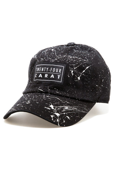"""Splatter"" Dad Cap - Black/White"