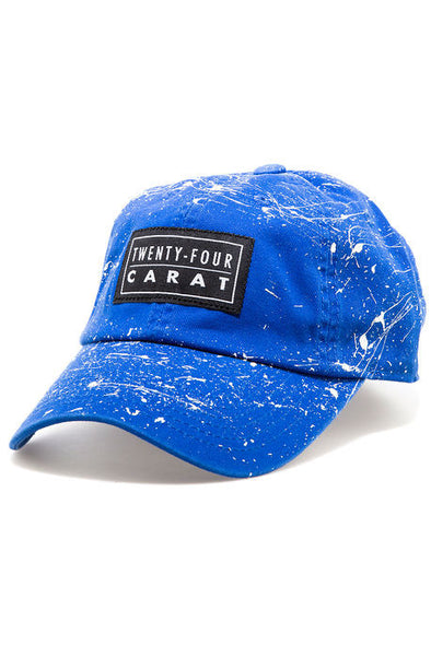 """Splatter"" Dad Cap - Royal/White"