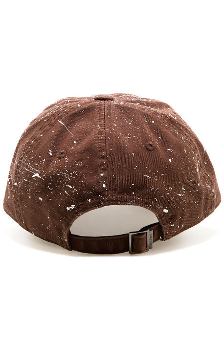 """Splatter"" Dad Cap - Brown/White"