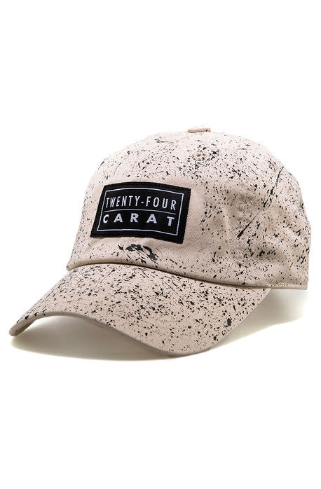 """Splatter"" Dad Cap - Tan/Black"