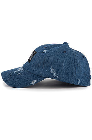 """Destroyed"" Dad Cap - Dark Denim"