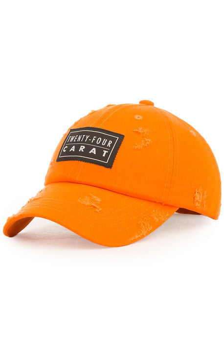 """Destroyed"" Dad Cap - Orange"