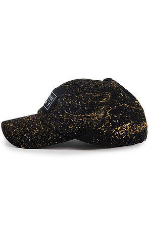 """Splatter"" Dad Cap - Black/Gold"
