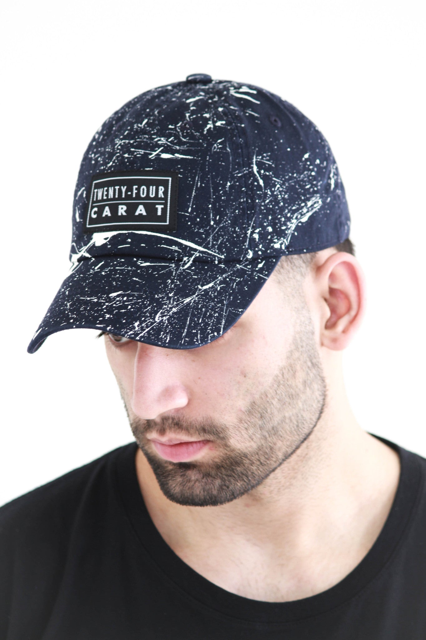 """Splatter"" Dad Cap - Navy/White"
