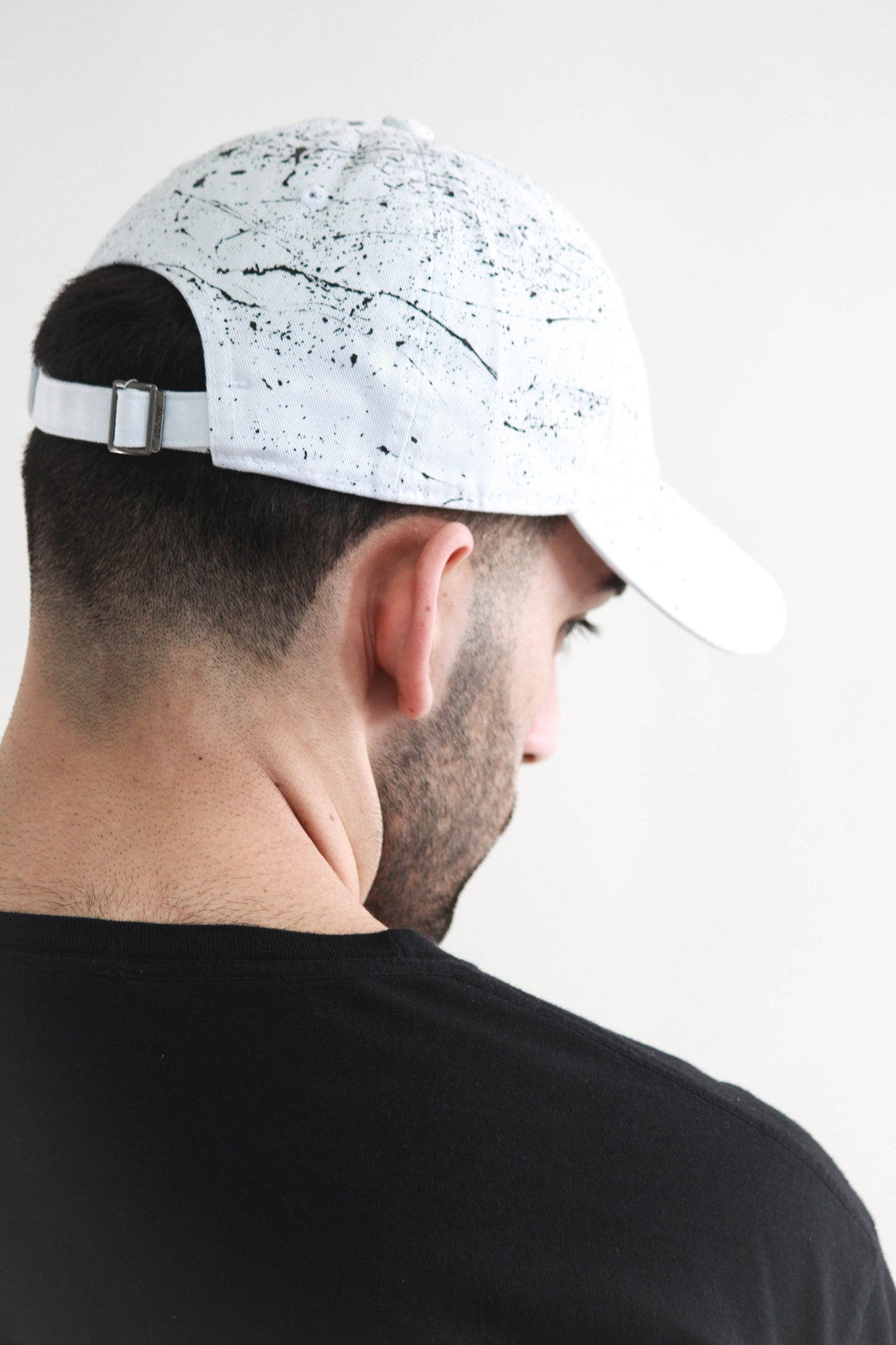 """Splatter"" Dad Cap - White/Black"