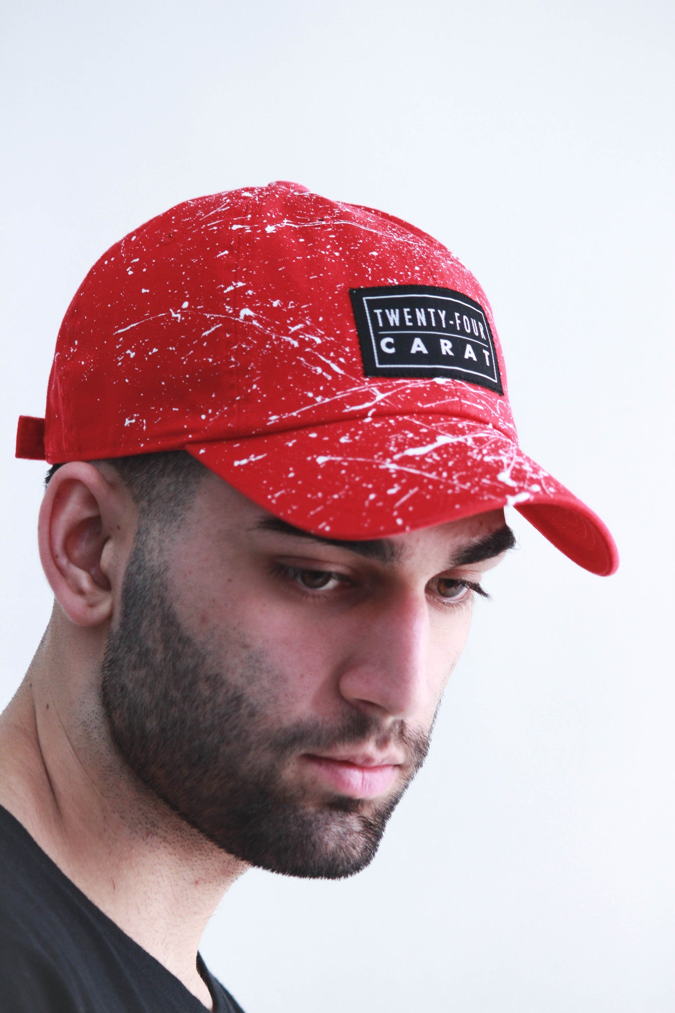 """Splatter"" Dad Cap - Red/White"