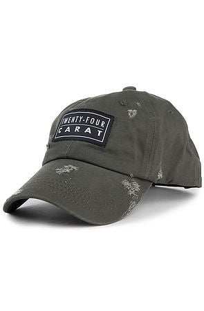 """Destroyed"" Dad Cap - Olive"