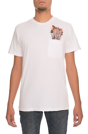 """Paint Brush"" Pocket Tee - White"