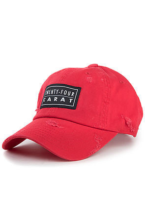 """Destroyed"" Dad Cap - Red"
