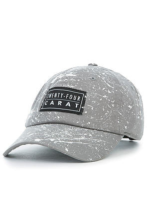 """Splatter"" Dad Cap - Charcoal Grey/White"