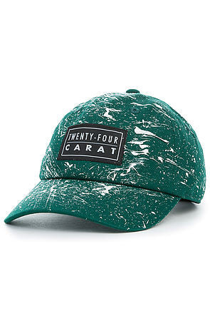 """Splatter"" Dad Cap - Forest Green/White"
