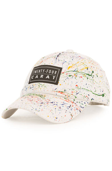 """Splatter"" Dad Cap - White/Multi"