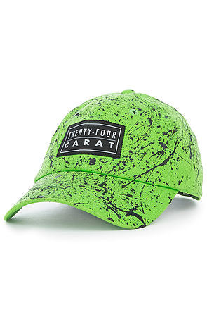 """Splatter"" Dad Cap - Neon Green/Black"