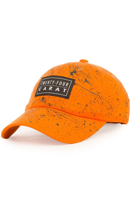 """Splatter"" Dad Cap - Orange/Black"