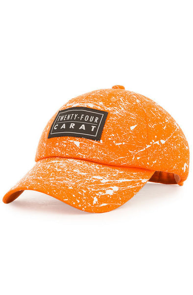 """Splatter"" Dad Cap - Orange/White"