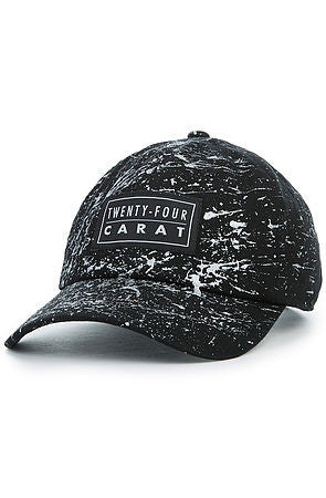"""Splatter"" Dad Cap - Black/Silver"