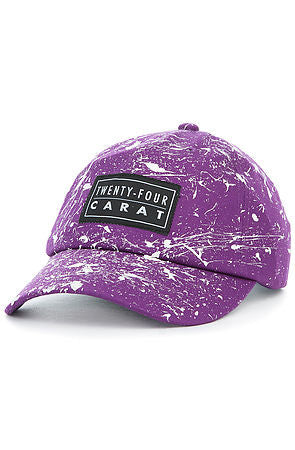 """Splatter"" Dad Cap - Purple/White"