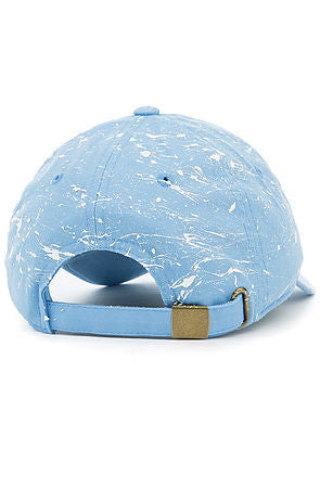 """Splatter"" Dad Cap - Sky Blue/White"