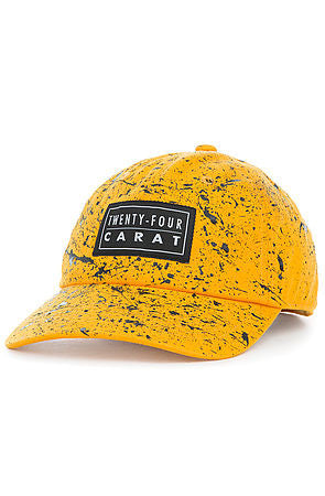 """Splatter"" Dad Cap - Yellow/Black"