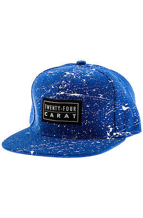 """Splatter"" Snapback - Royal/White"