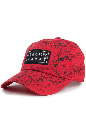 """Splatter"" Dad Cap - Red/Black"