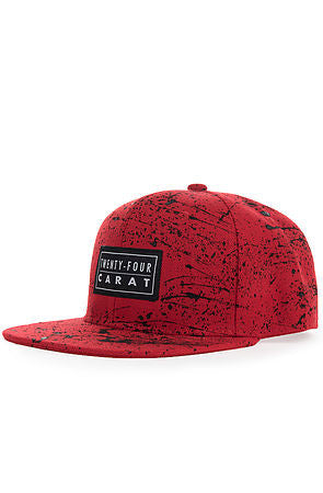 """Splatter"" Snapback - Red/Black"
