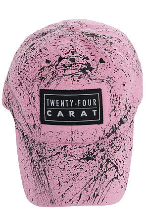 """Splatter"" Dad Cap - Pink/Black"
