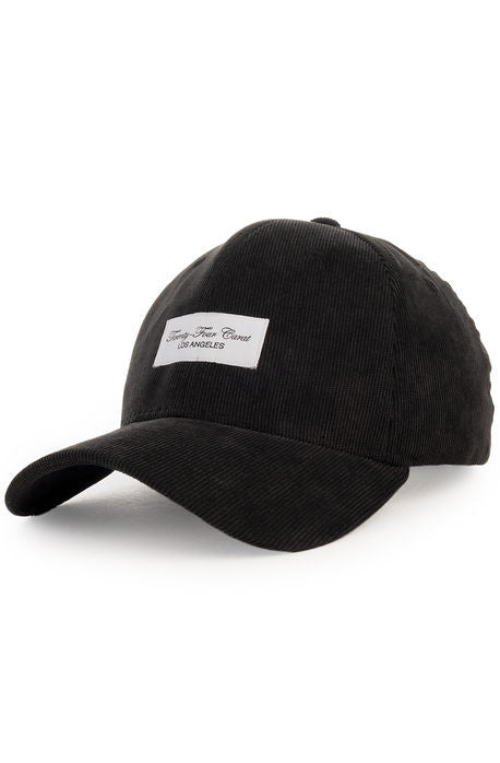 """Corduroy"" Dad Cap - Black"