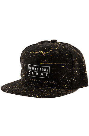 """Splatter"" Snapback - Black/Gold"