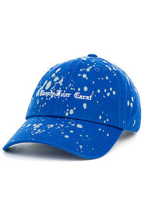 """Old English"" Bleach Dad Cap - Royal Blue"