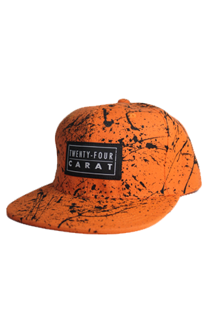 """Splatter"" Snapback - Orange/Black"